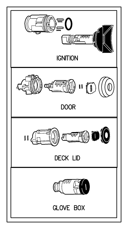 Chrysler Concorde Lock  Cylinder  Ignition  Incl Housing  Key Cylinder Is Uncoded  Uncoded