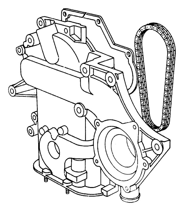 Chrysler New Yorker Timing  Chain  Engine  Cover  3 3 Liter  3 8 Liter  All  All Models