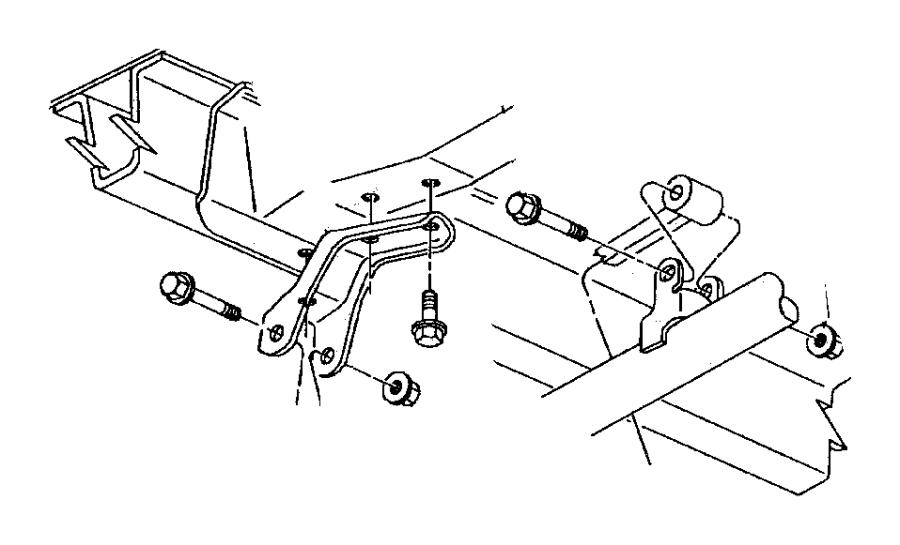 Dodge Caravan Suspension Track Bar Nut  2 Wheel Drive