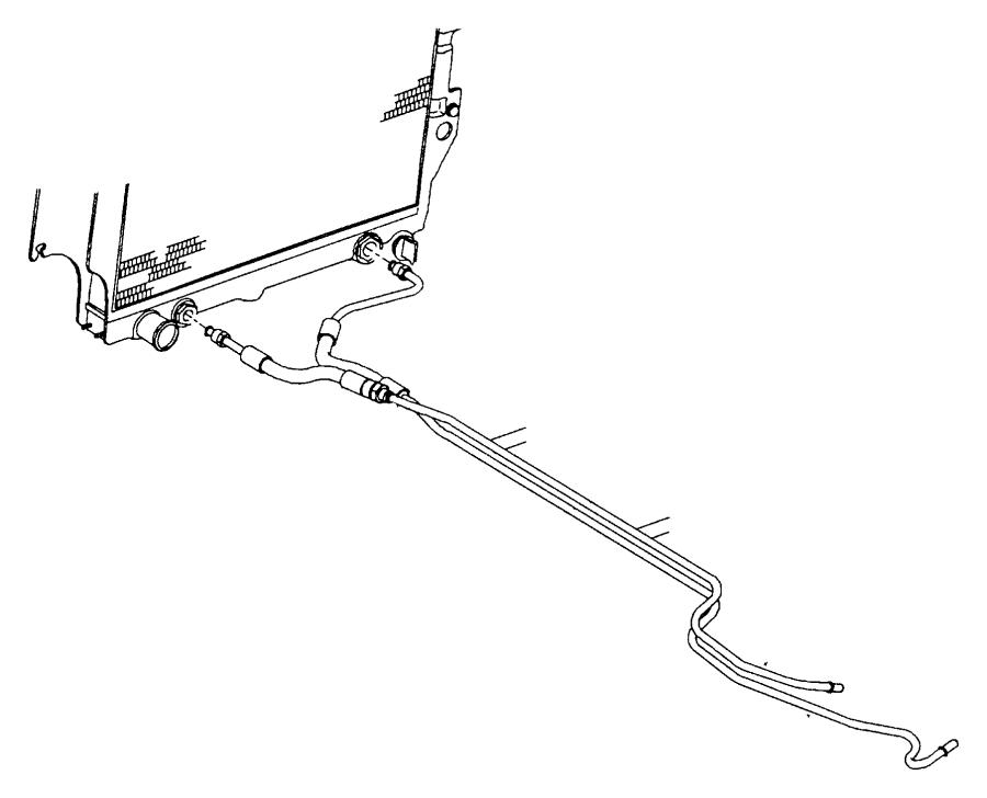 jeep wrangler automatic transmission oil cooler hose  tube
