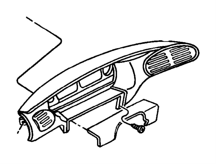 Chrysler Voyager Instrument Panel Bezel. Gauge cluster ...