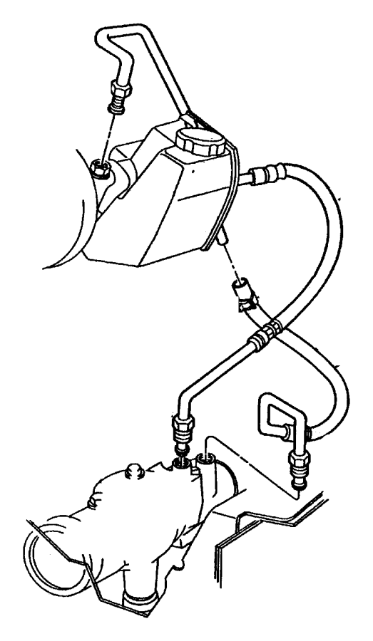 jeep wrangler power steering return hose