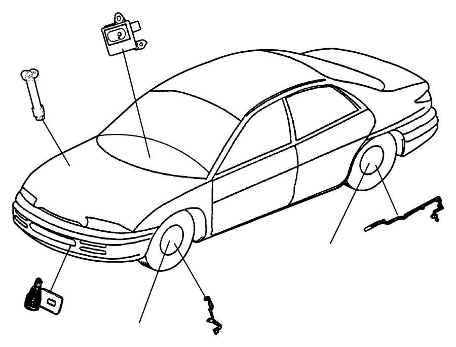 Chrysler 300m Abs Wheel Speed Sensor  Front