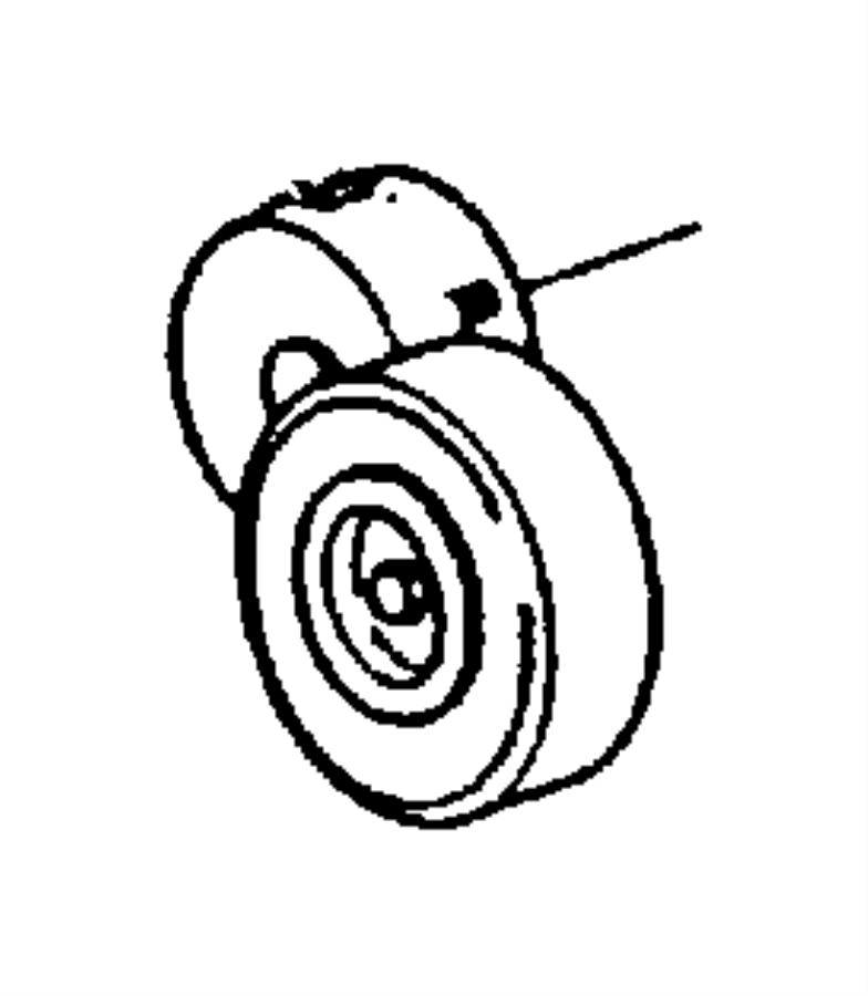 Dodge Caravan Pulley  Idler  Drive  Belt  Accessory