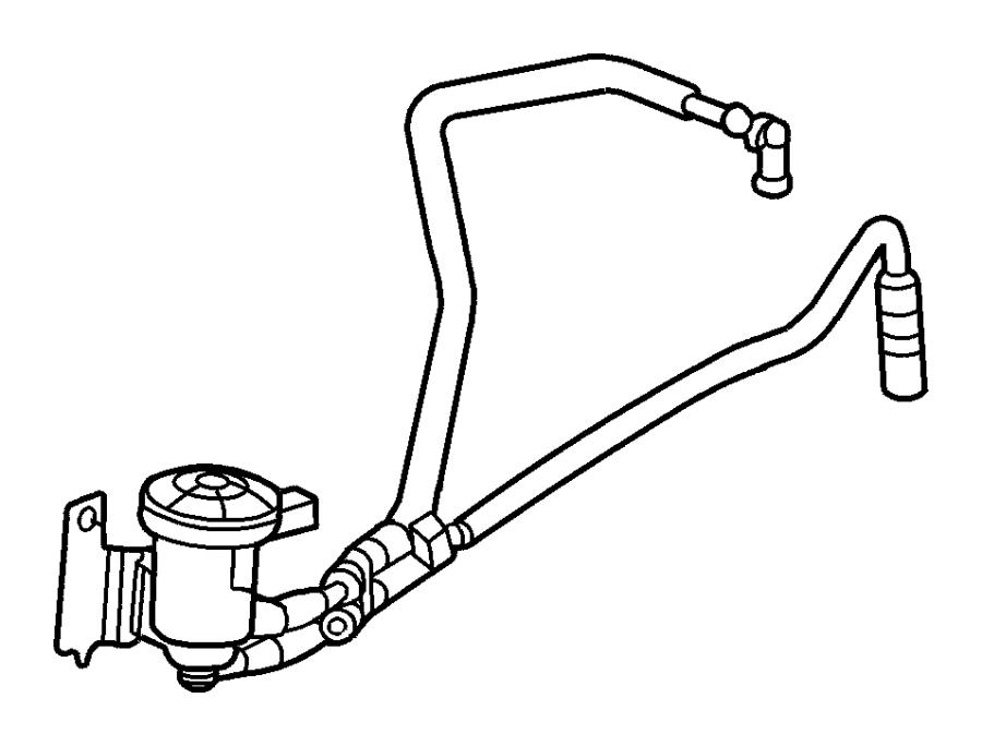 Dodge Grand Caravan Vacuum Hose  3 3  U0026 3 8 Liter  2001-03  3 3  U0026 3 8 Liter  2004-07