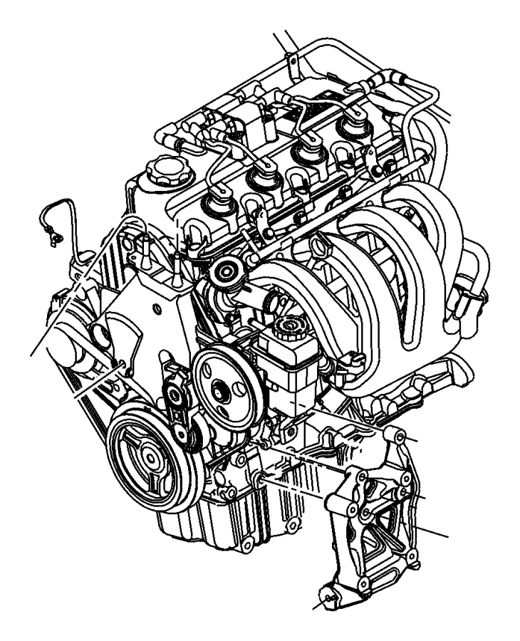 Chrysler Pt Cruiser Engine Mount  Trans  Manual  Liter