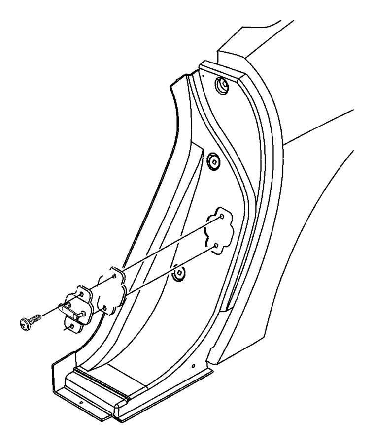 Dodge Viper Striker  Plate  Door  Lock  Latch  Pin  Catch