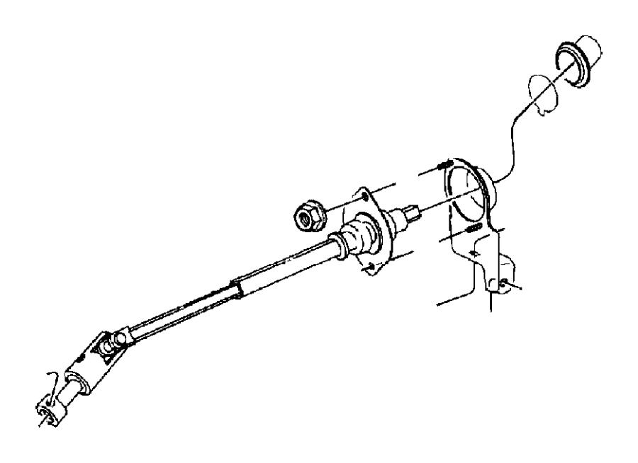 Jeep Wrangler Steering Shaft  Tj Series  Lower  Power