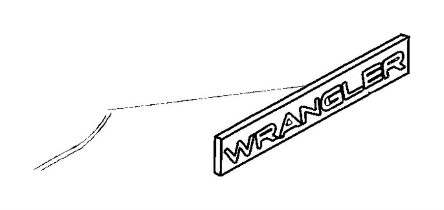 Jeep Wrangler Stripe  Fender  Decal  Wrangler  Light