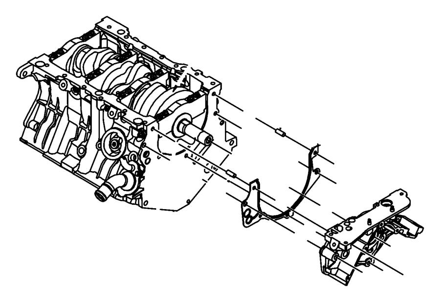 Chrysler Town  U0026 Country Engine Oil Pump Gasket
