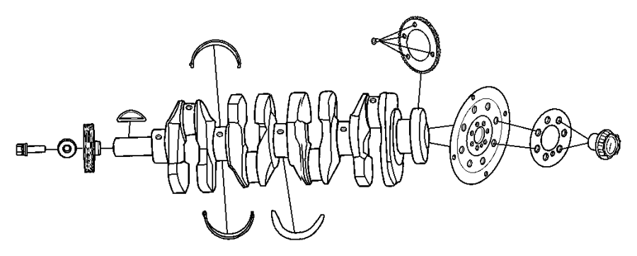 Jeep Compass Crankshaft  Crankshft  Engine  Caliber  2 0l  Compass  2 0l  Patriot  2 0l