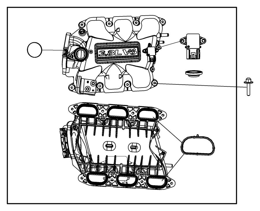 Chrysler Town  U0026 Country Engine Intake Manifold  Upper  Liter