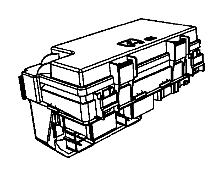 Jeep Wrangler Fuse Box Cover  2009-10