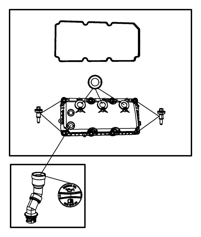 Dodge Nitro Engine Oil Filler Tube  4 0 Liter  Transaxle