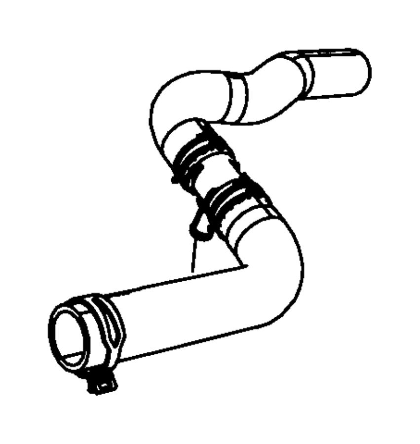 Dodge Journey Radiator Coolant Hose  Lower   2 4 Liter  2 4 Liter  W  Oil Cooler  Journey