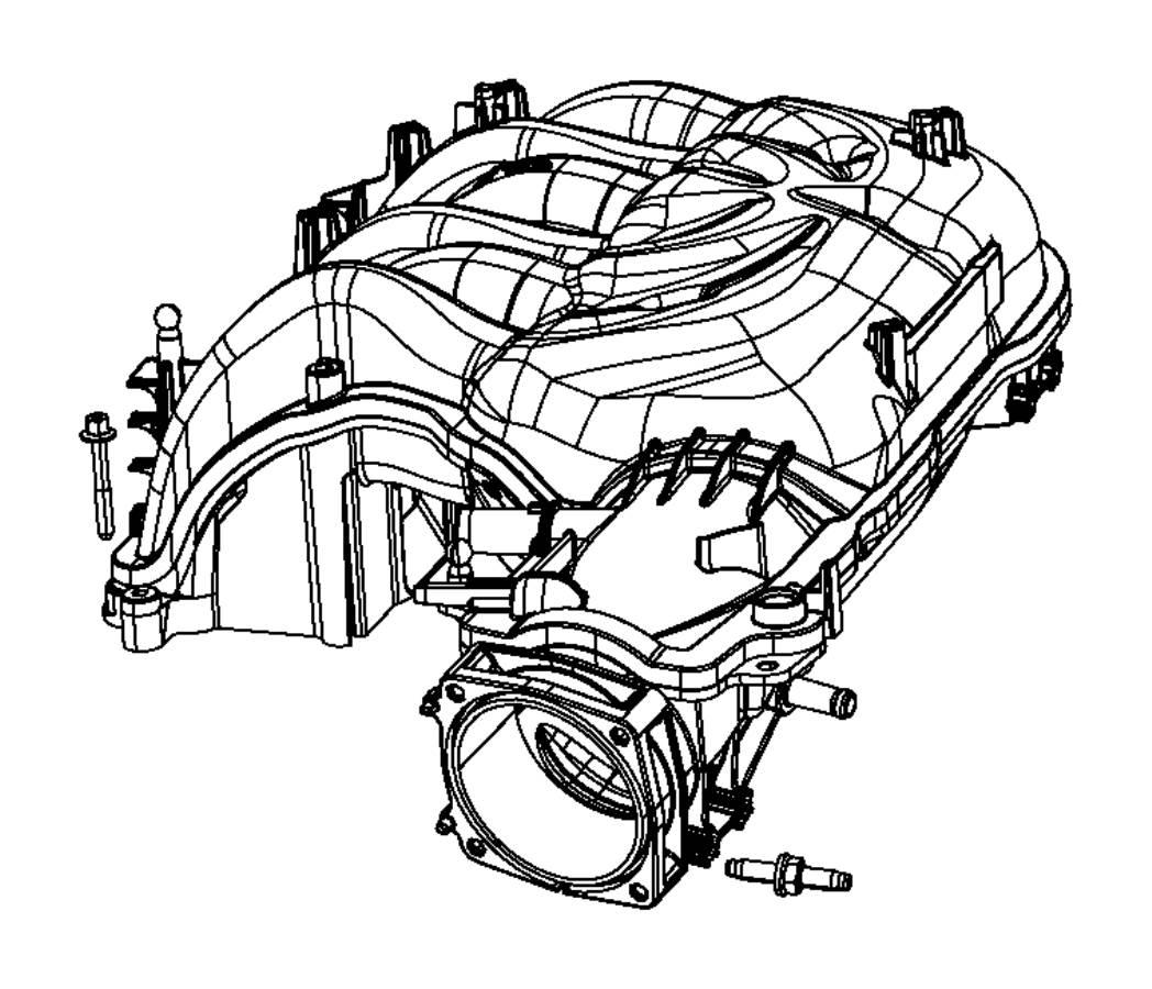 ram 1500 engine intake manifold  3 6 liter  upper  ram 1500  3 6l  upper  wrangler