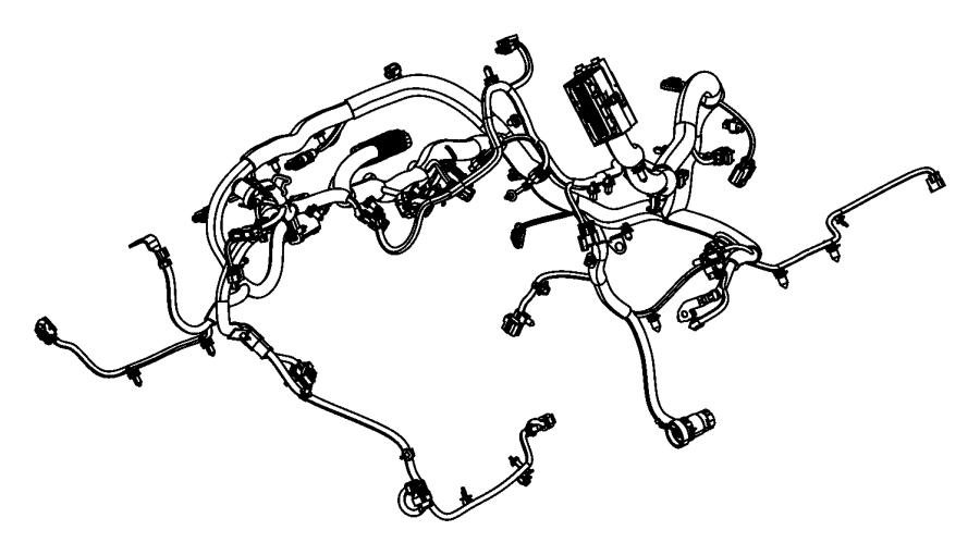 Jeep Wrangler Engine Wiring Harness  4wd  Auto Trans