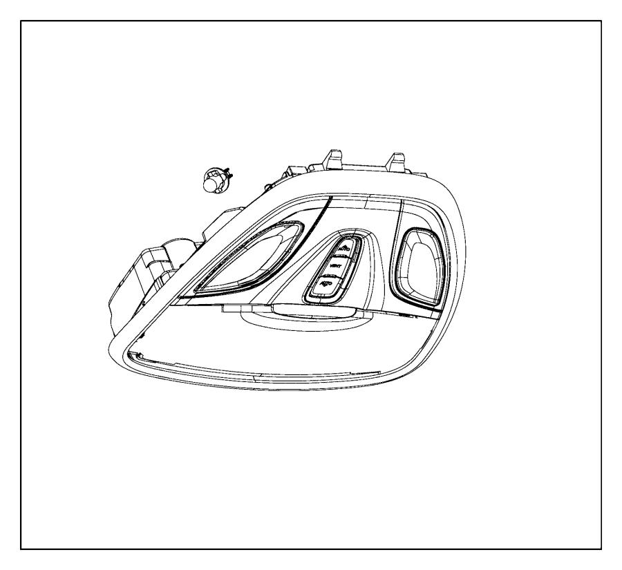 Chrysler 200 Reading Light. W/sunroof, W/o Panoramic, Gray