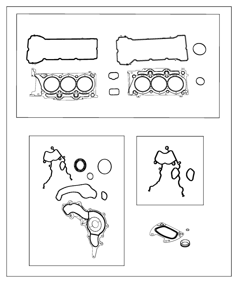 Jeep Wrangler Gasket  Crossover  Water Outlet  Cooling