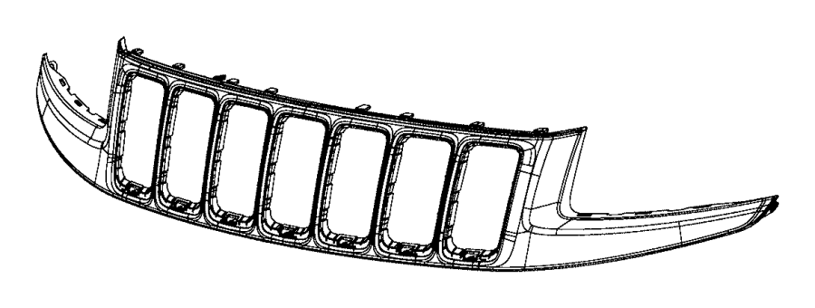 Jeep Grand Cherokee Grille  Lower   2014-16