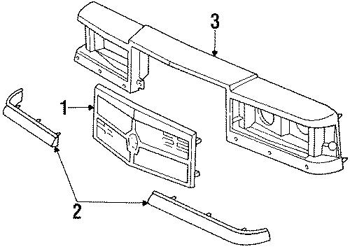 Chrysler New Yorker Molding  1990 W  Composite Headlamps