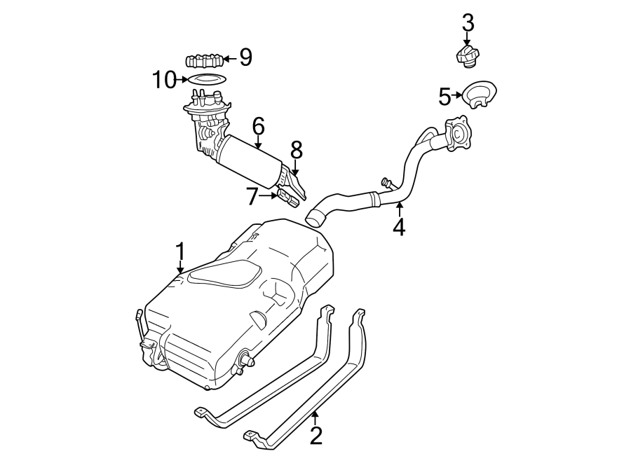 Chrysler Pt Cruiser Fuel Tank Cap  Locking  Liter  Convertible