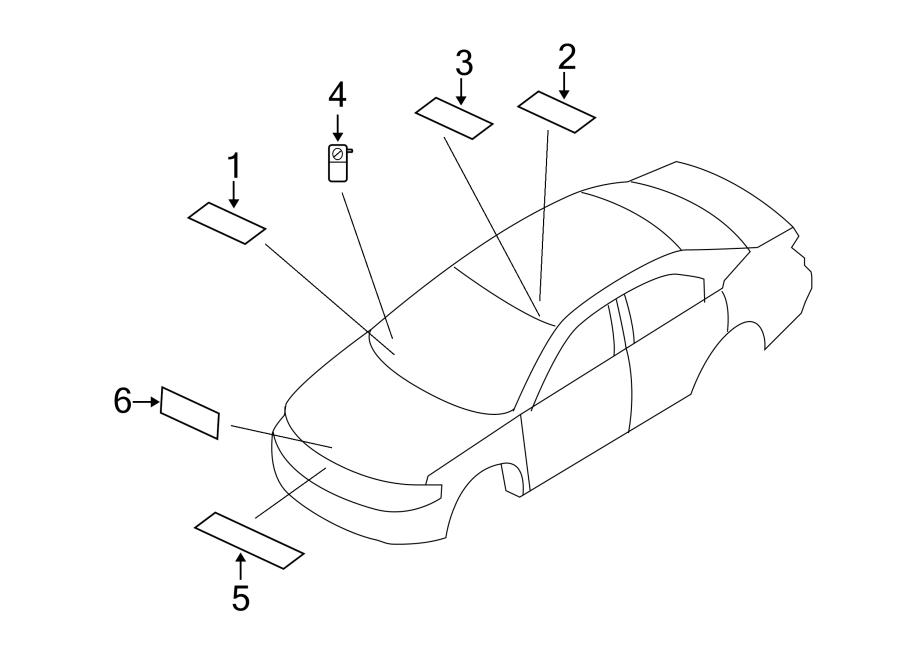Chrysler Sebring Label  System  Conditioning  Air  Jump Start   A  C  Information  Ac