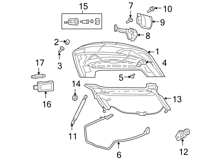 Chrysler Sebring Deck Lid Lock  Cylinder  Rear