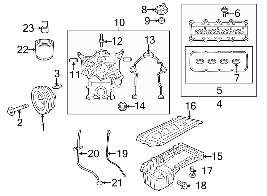 Dodge Charger Engine Harmonic Balancer Guide Pin  5 7 Liter  6 2 Liter  6 4 Liter