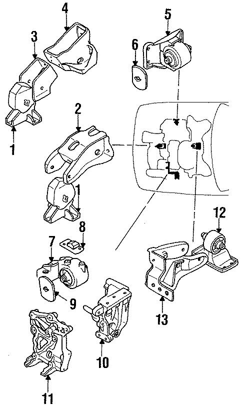 Dodge Stealth Lower Bracket  Dohc  Engine  Transaxle