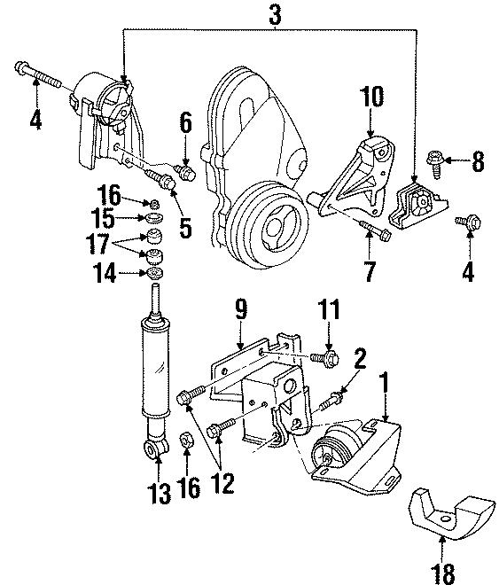 Dodge Neon Engine Torque Strut Washer  2 0 Liter  1995-96  2 0 Liter  1996  Dohc
