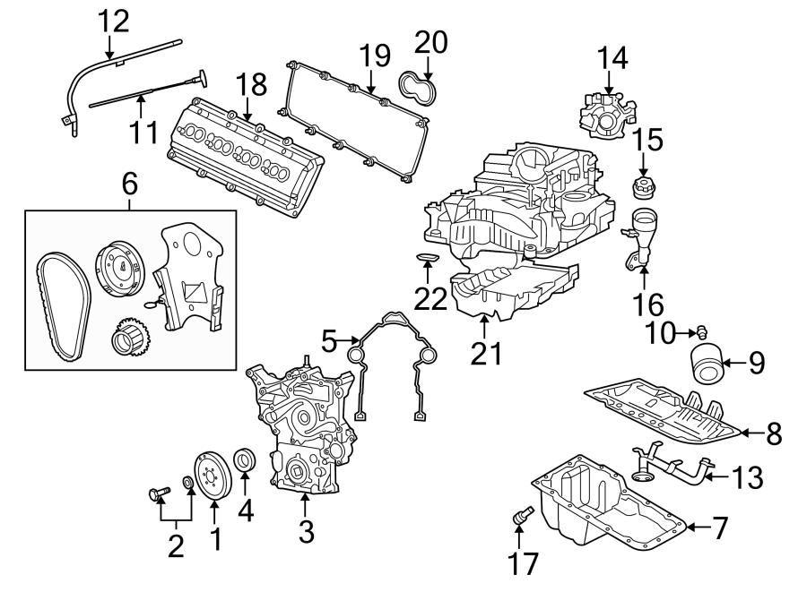 Dodge Magnum Engine Timing Cover  Front