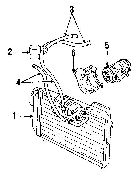 Chrysler Imperial Compressor Bracket  Compressor Mount