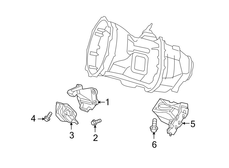 Dodge Ram 3500 Transmission  Mount  Bracket  Support  Manual  5 9 Liter Diesel 4wd