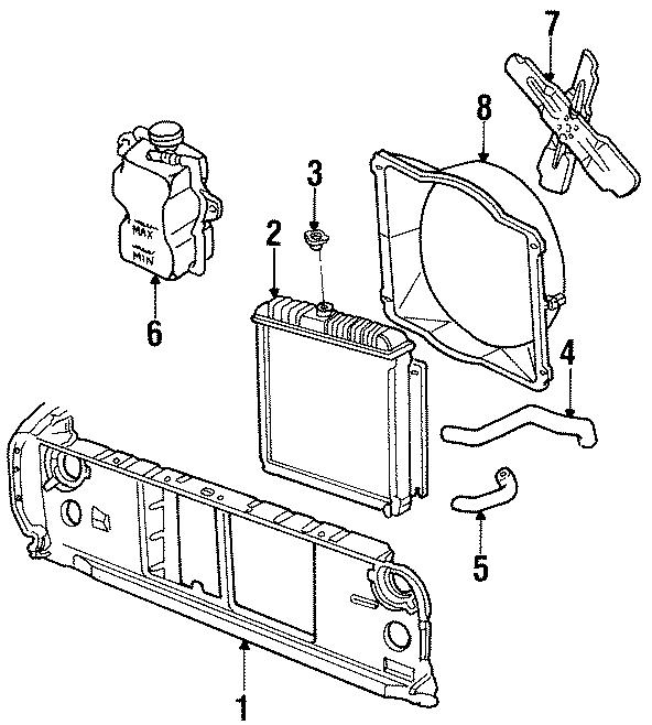 Dodge D100 Shroud  6 Cylinder