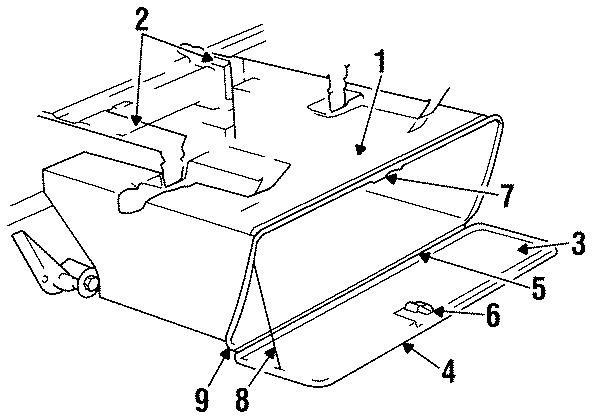 Dodge D100 Lock  Sweptline  Storage Compartment