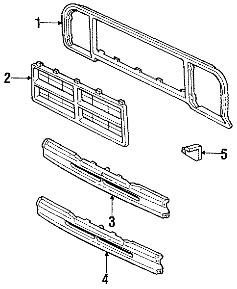 Dodge D100 Extension Bracket  Grille Surround Support