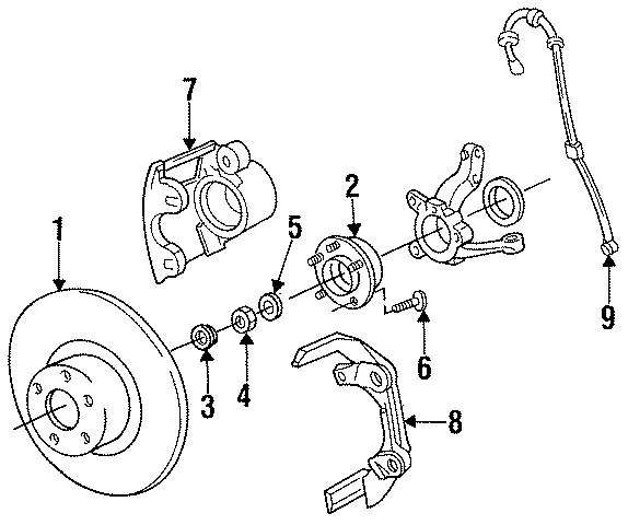 Chrysler Town  U0026 Country Wheel Bearing And Hub Assembly