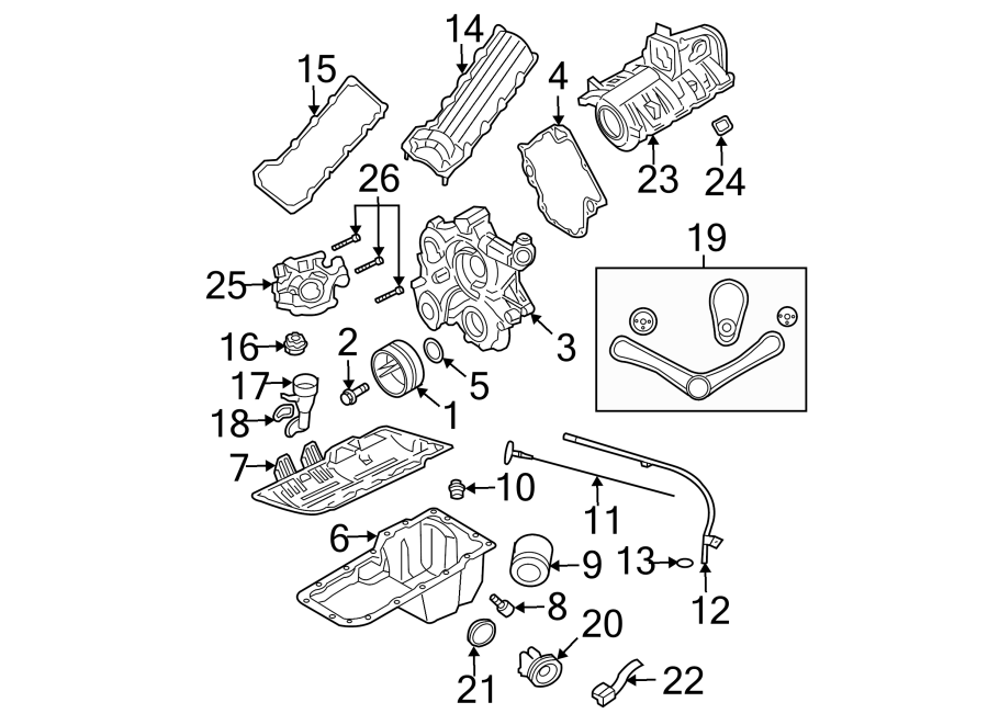 dodge dakota engine timing cover  front