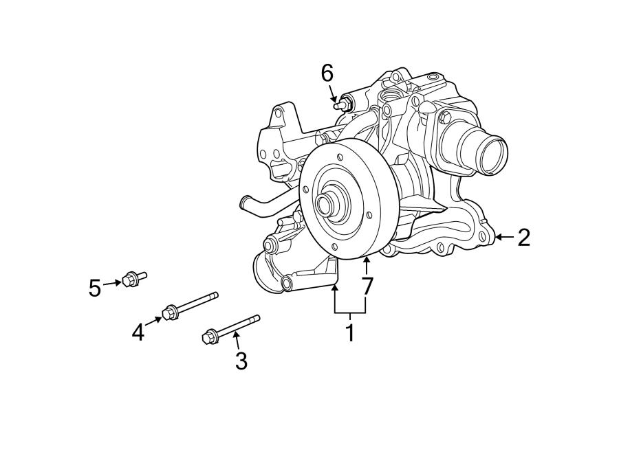Chrysler Aspen Engine Water Pump Gasket  Liter  Cab