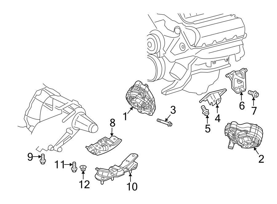 Chrysler Aspen Engine Mount Bolt  Liter  Insulator  Front