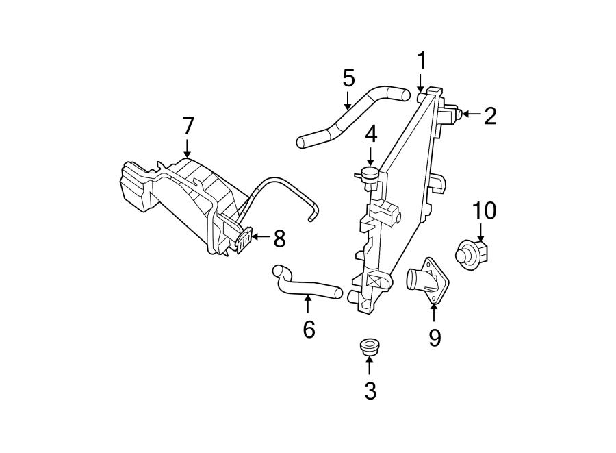 Dodge Ram 1500 Radiator Coolant Hose  3 7  U0026 4 7 Liter  4 7