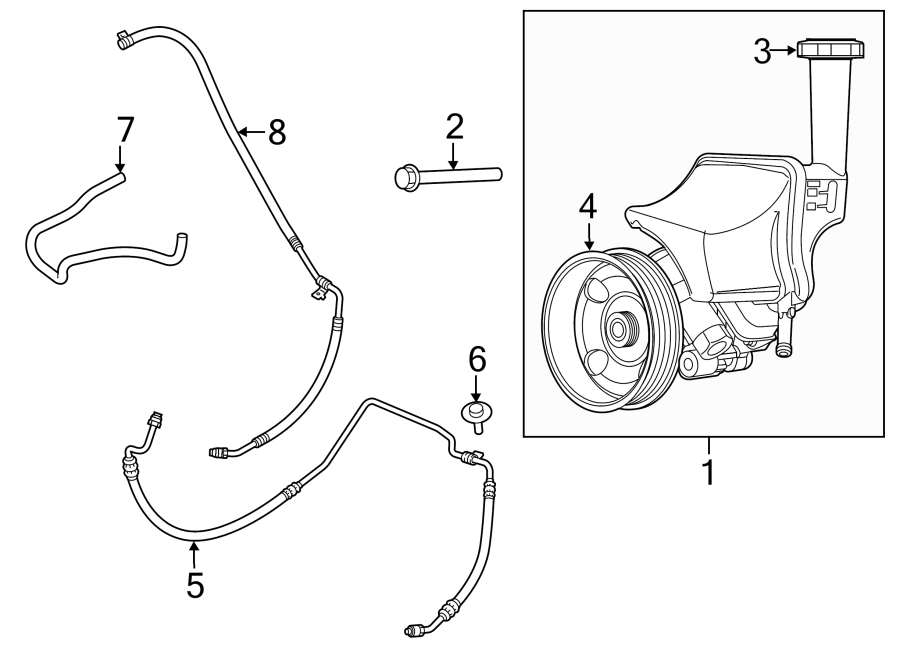 Chrysler 300 Power Steering Pressure Hose  Gear  Hoses