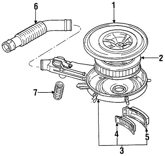Dodge Ram 50 Air Filter  2 0 Liter  1987