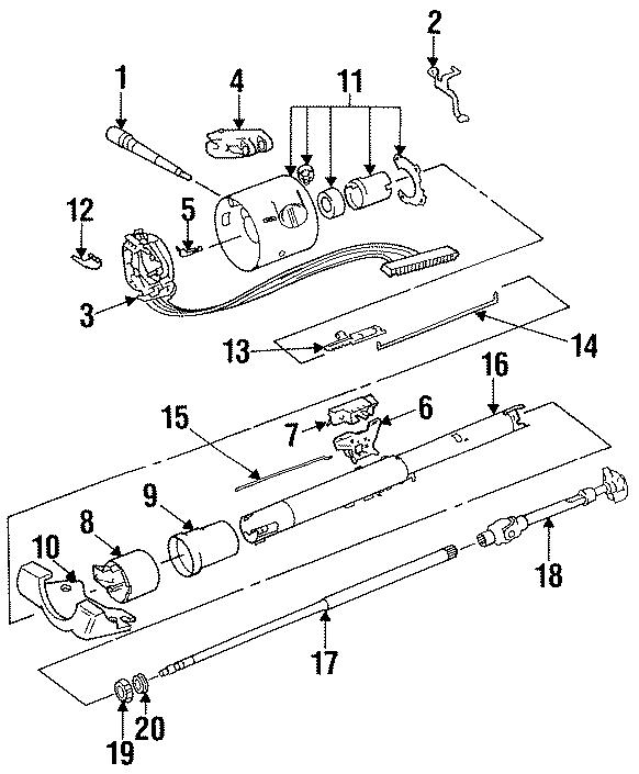Jeep Grand Wagoneer Upper Shaft  1987-91 W  O Tilt Wheel  J Series  Floor Shift