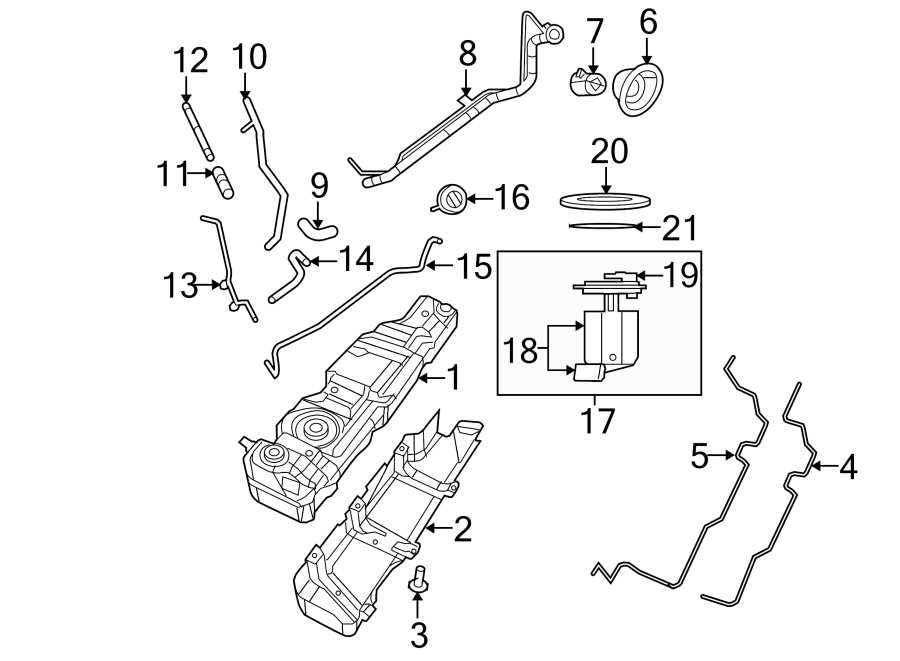 Jeep Wrangler Evaporative Emissions System Lines  Upper