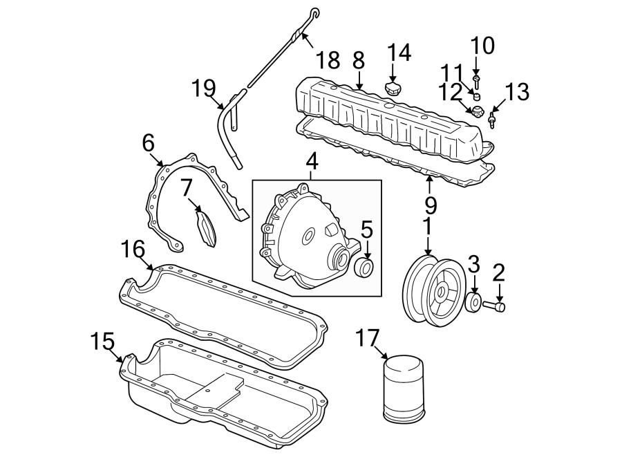 Jeep Wrangler Engine Crankshaft Seal  Front
